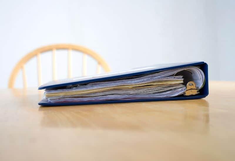 organized audition binder