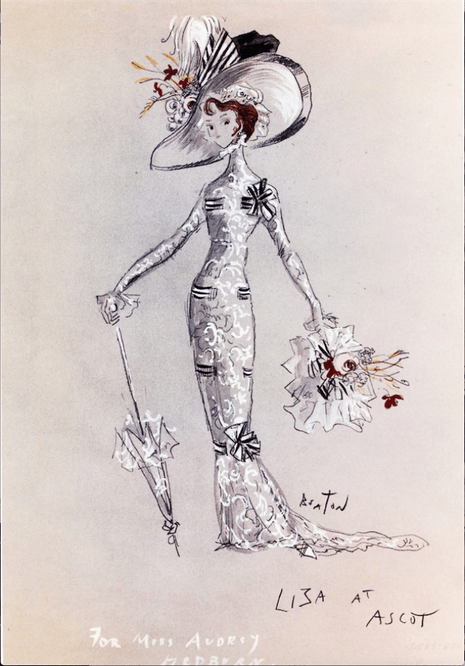 Eliza Ascot Gavotte Dress Sketch