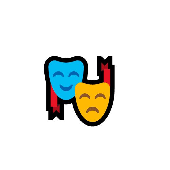 theatre masks emoji